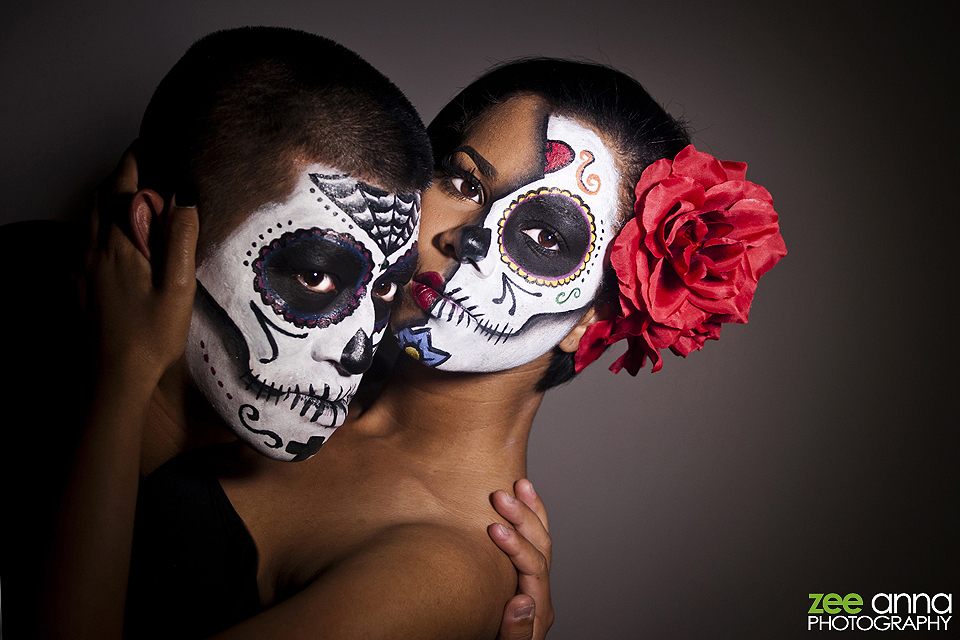 Day of The Dead Makeup Couple Couple Day of The Dead