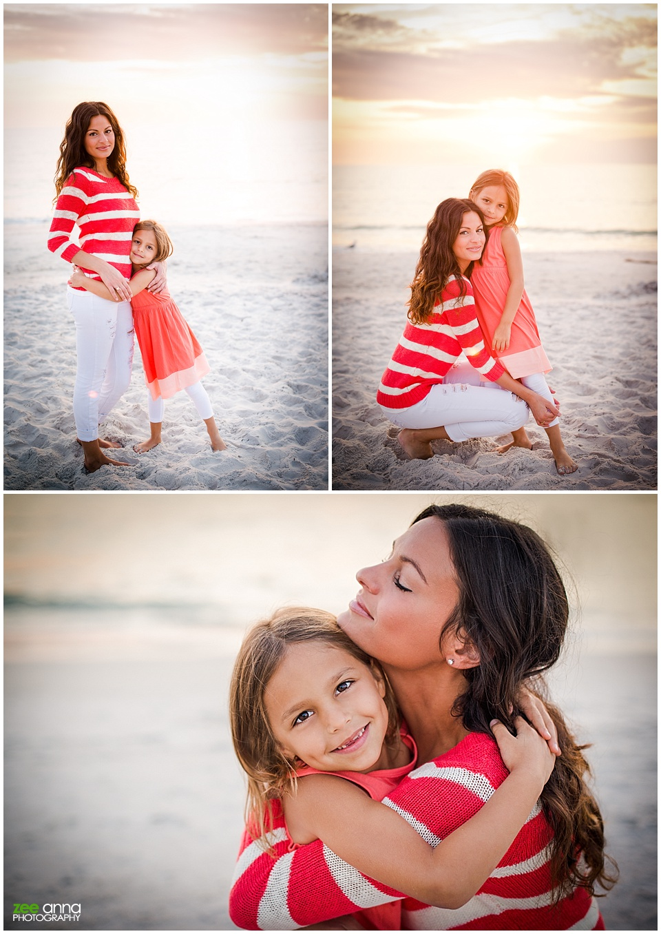 naples beach family session with mommy and me Erika and Avienne by Zee Anna Photography