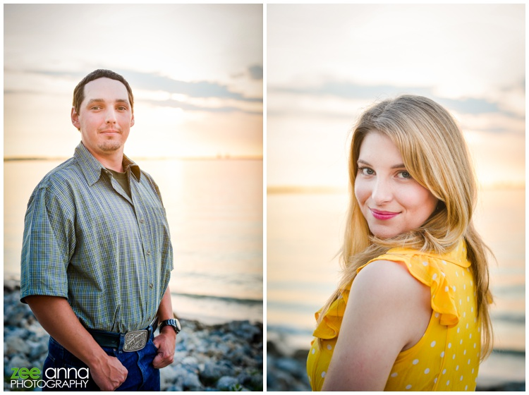 florida sunrise engagement session by zee anna photography