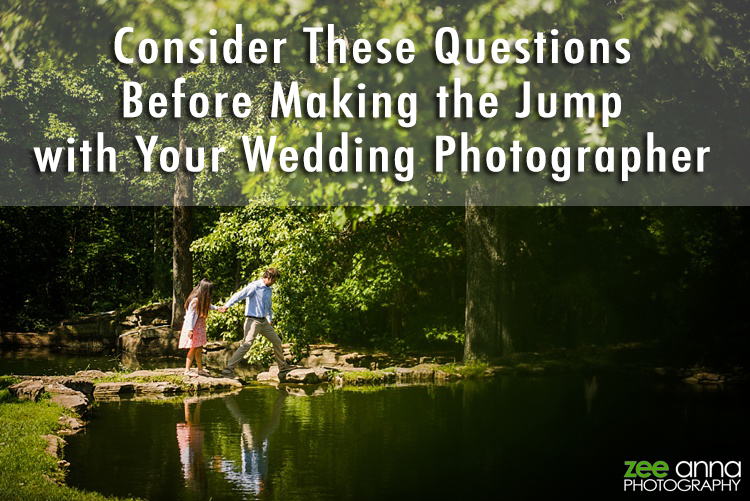 Questions for Your Wedding Photographer by Zee Anna Photography