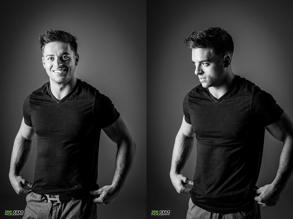 Studio portraits in Naples Florida with Ben Zuk by Zee Anna Photography
