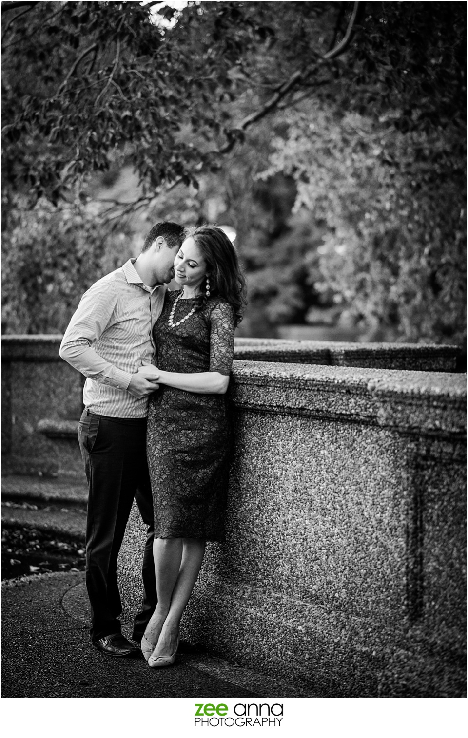 Meridian Hill Park couple's session by Zee Anna Photography