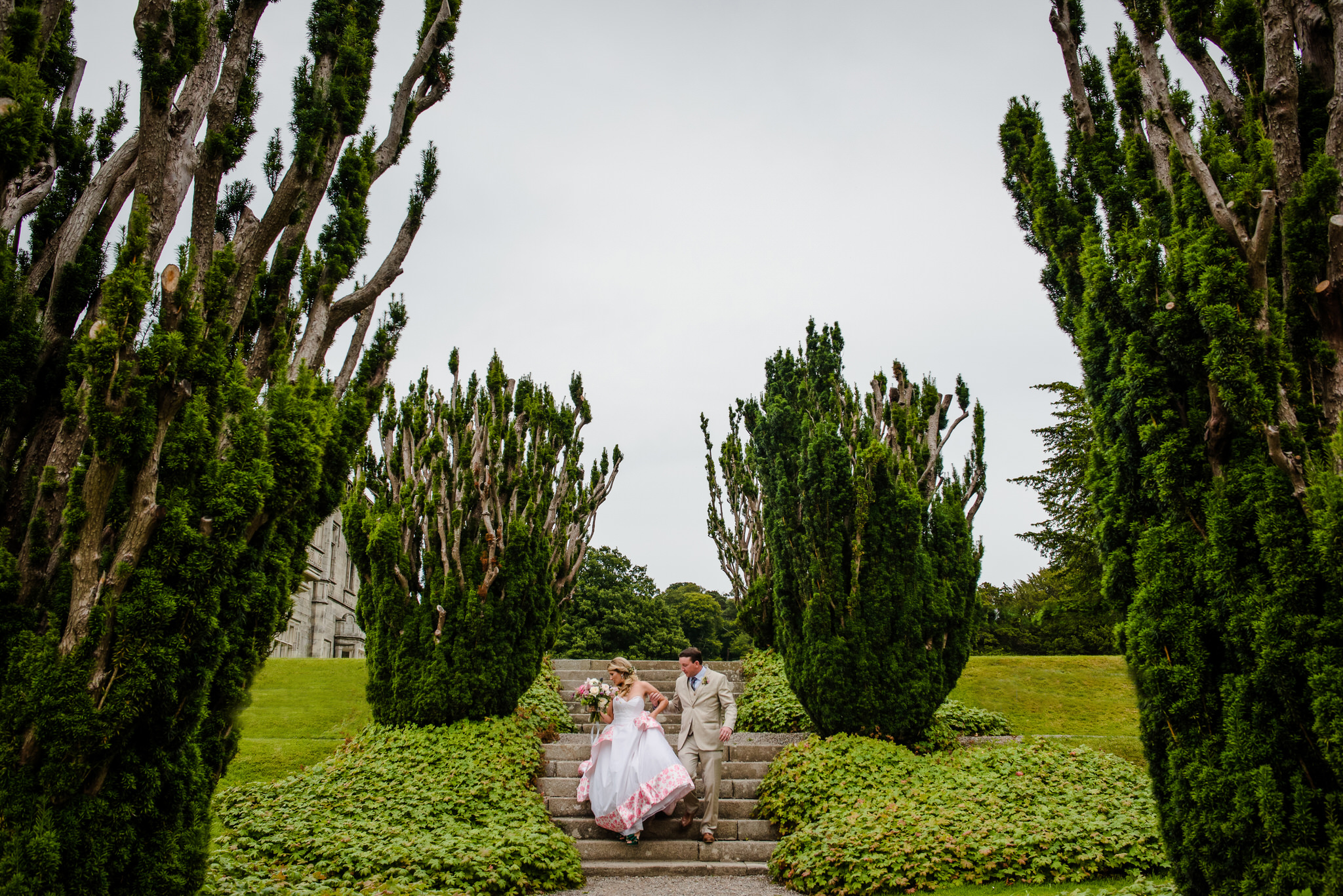 Wedding Portrait at Kilruddery House and Gardens in Bray, Ireland - International Destination Wedding by Zee Anna Photography