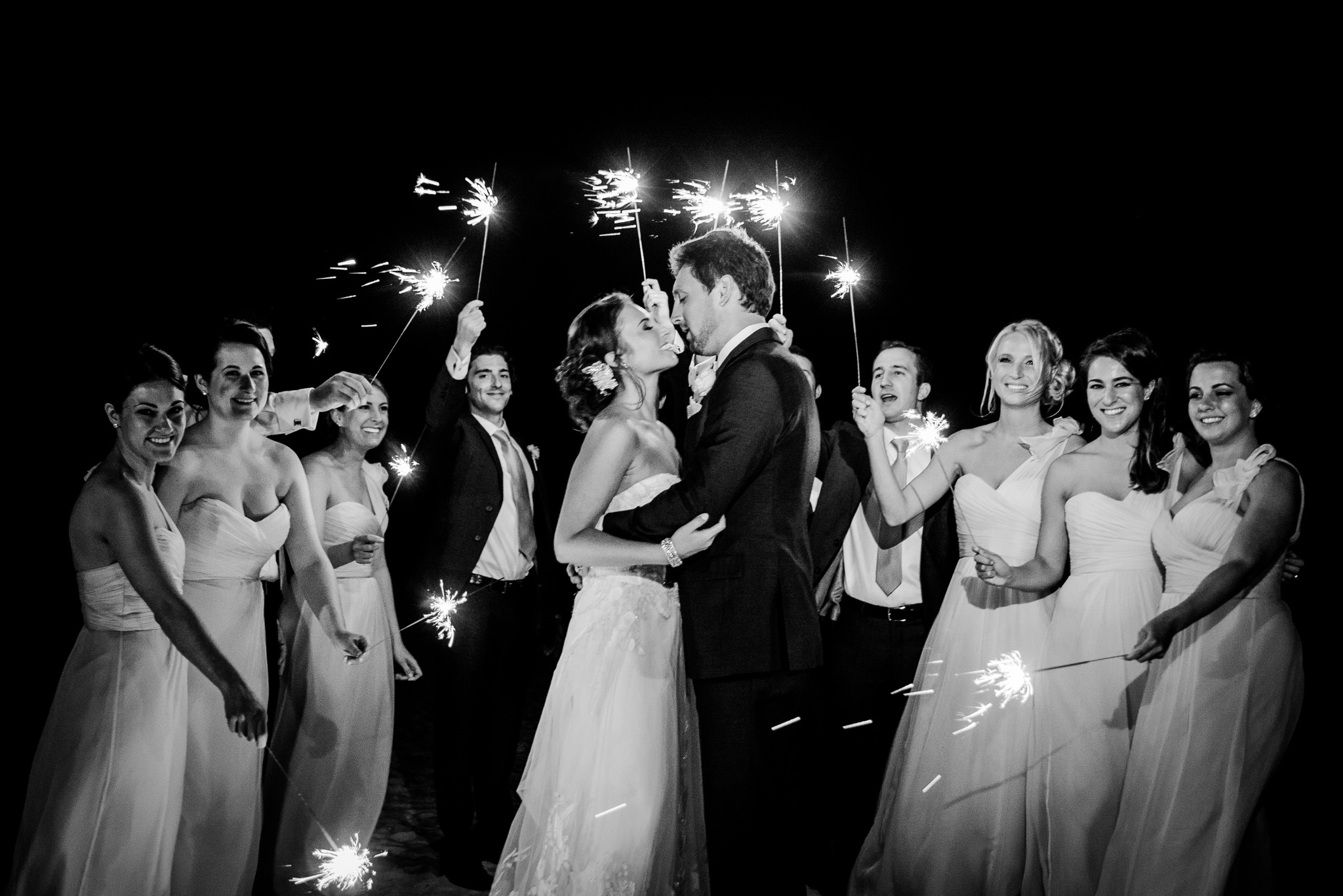 Beach Sparkler Portrait at La Playa Beach Resort in Naples, Florida