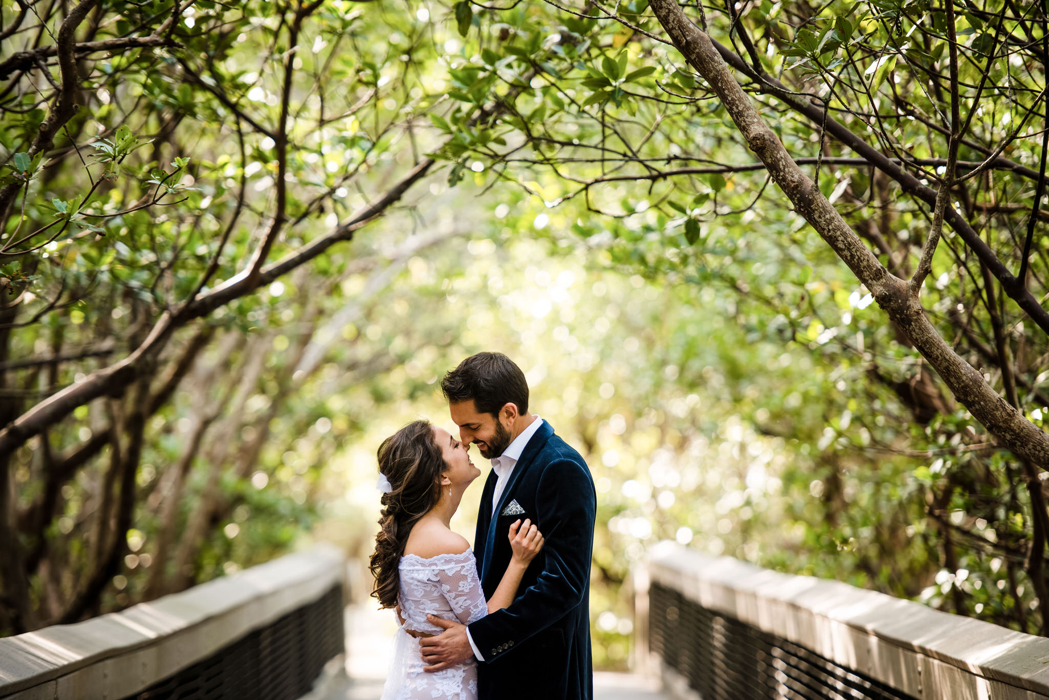 Lover's Key State Park Wedding Portrait at the Fishing Pier
