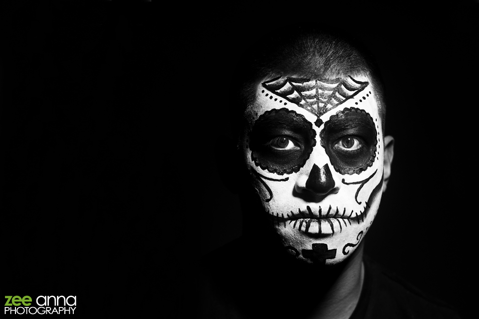 Male Day of the Dead Make Up