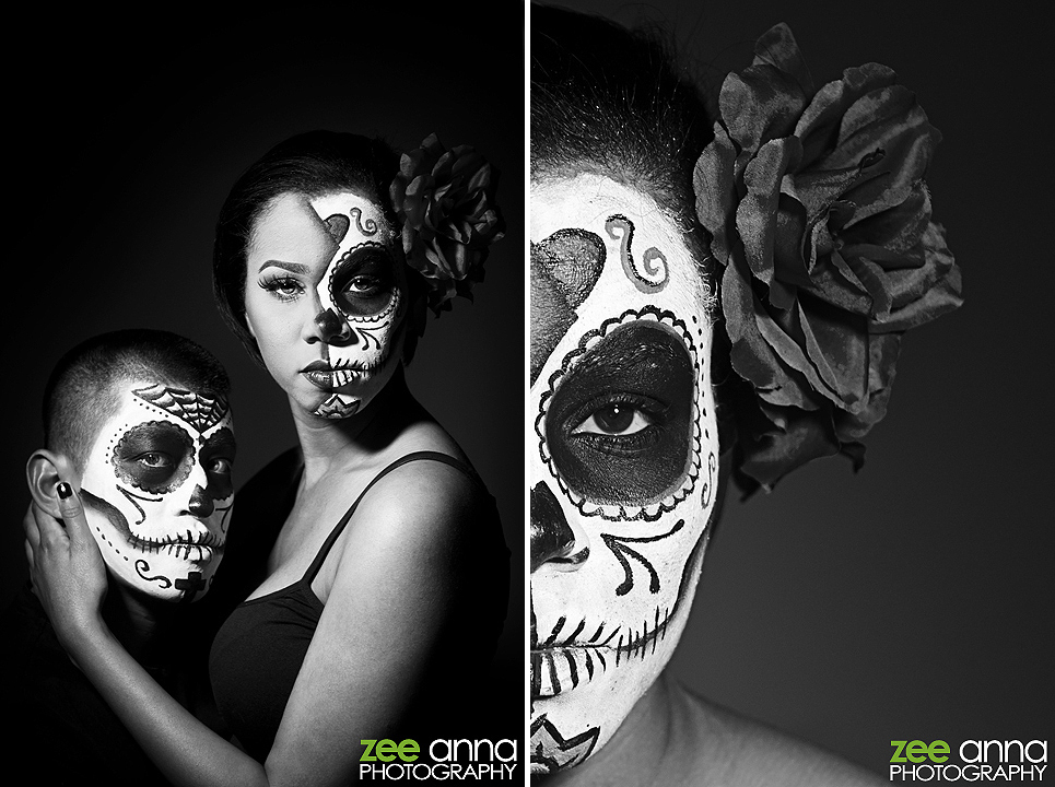 Female Day of Dead Sugar Skull Make Up