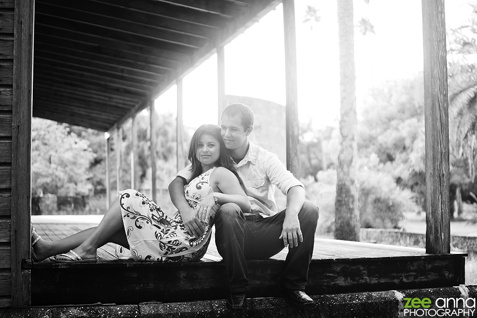 shane and darlene engagement shoot koreshan state park
