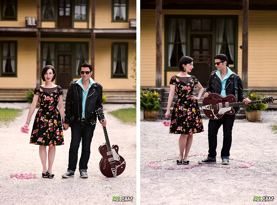 American Gothic Inspires Rock Gothic by Zee Anna Photography