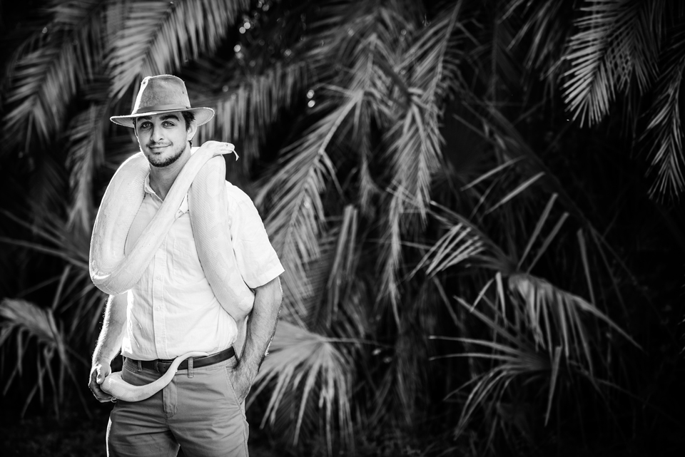 Naples Snake keeper Portrait by Zee Anna Photography
