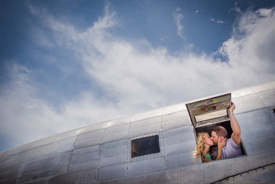 Port Charlotte Airport Engagement Session by Zee Anna Photography