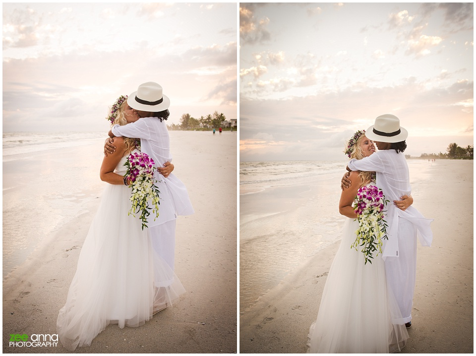 Fort Myers Beach Wedding at a Private Residence with Janemo and Janeen