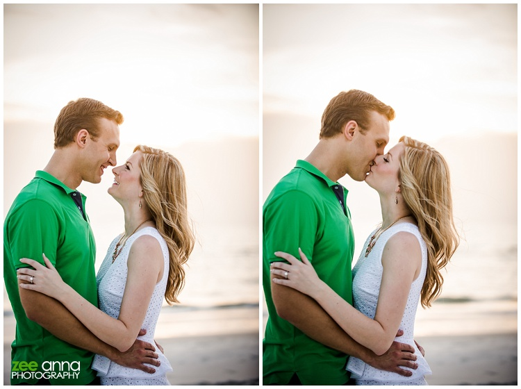 Naples Beach and garden engagement session by zee anna photography