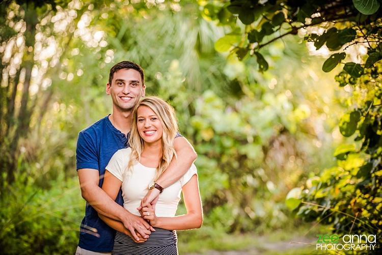 Fort Myers Beach Engagement session by Zee Anna Photography