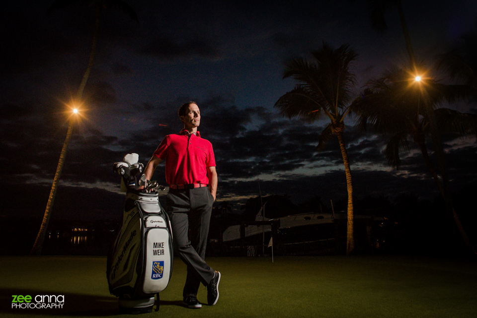 Mike Weir, PGA Masters Champion, commercial portrait session with Elevee and Zee Anna Photography