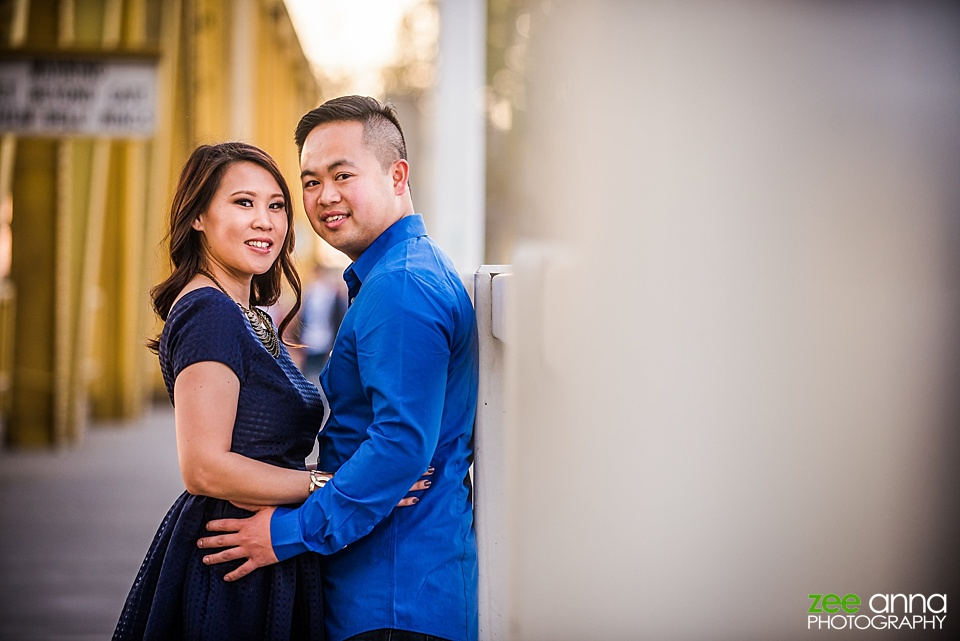 Sacramento Engagement Photography at Riverwalk by Zee Anna Photography