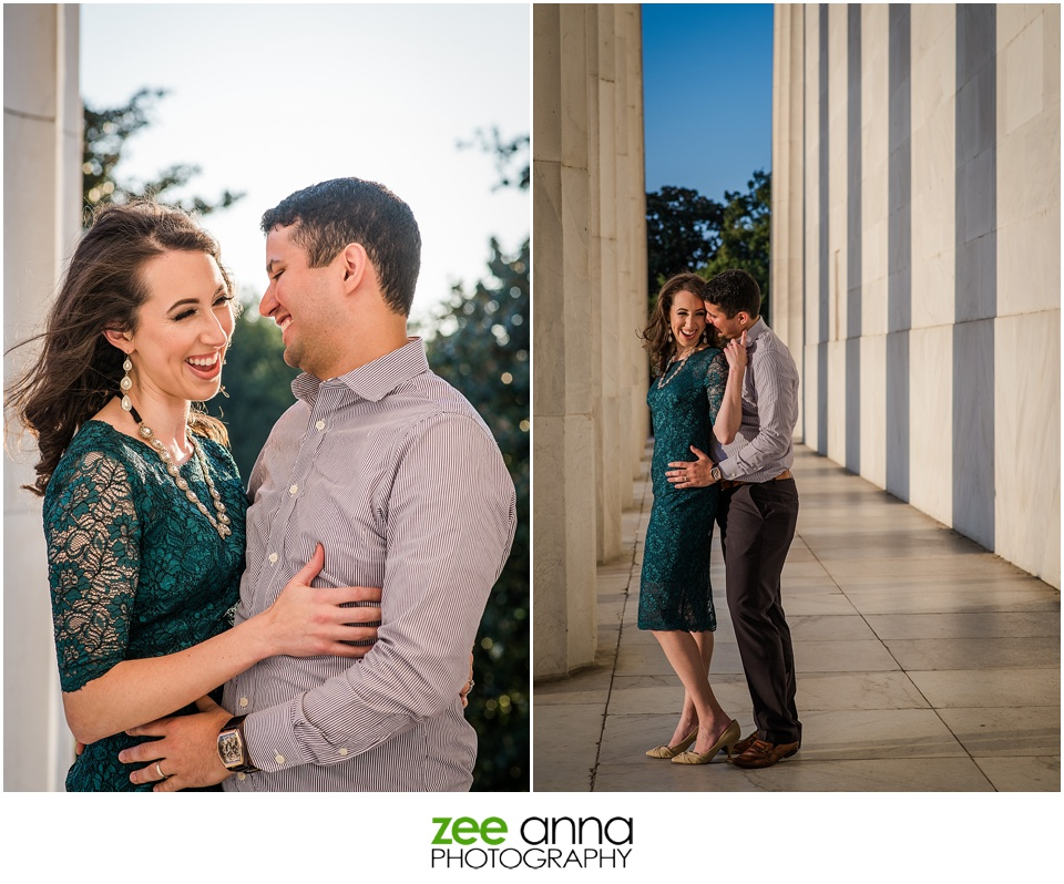 Lincoln Memorial Couple's Session by Zee Anna Photography