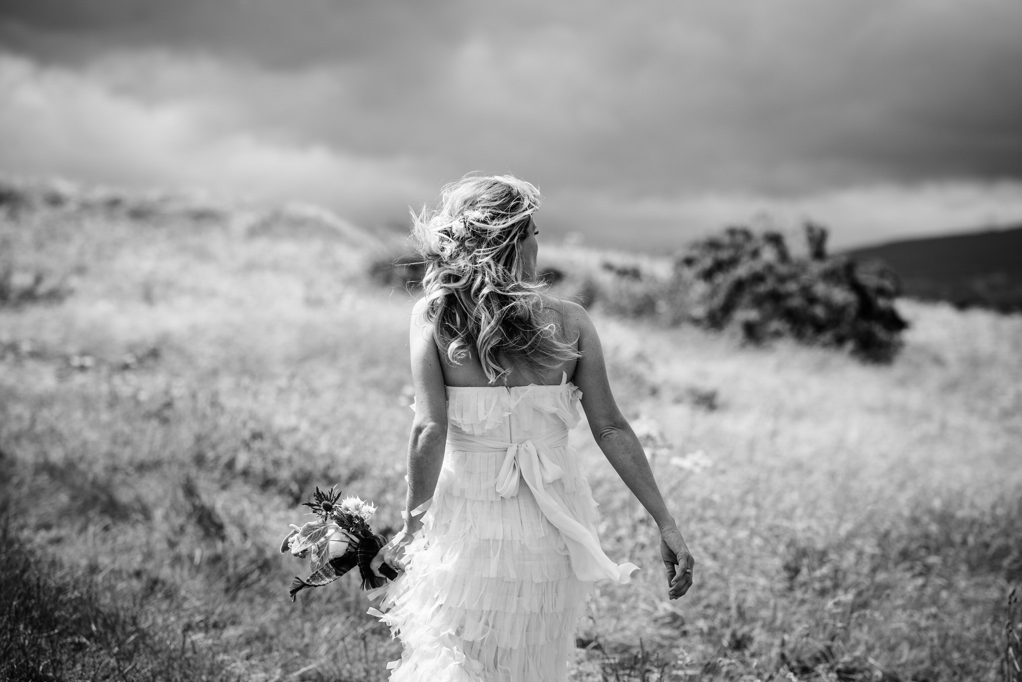 Bride on her way to her Handfasting in Bray, Ireland - International Destination Wedding by Zee Anna Photography