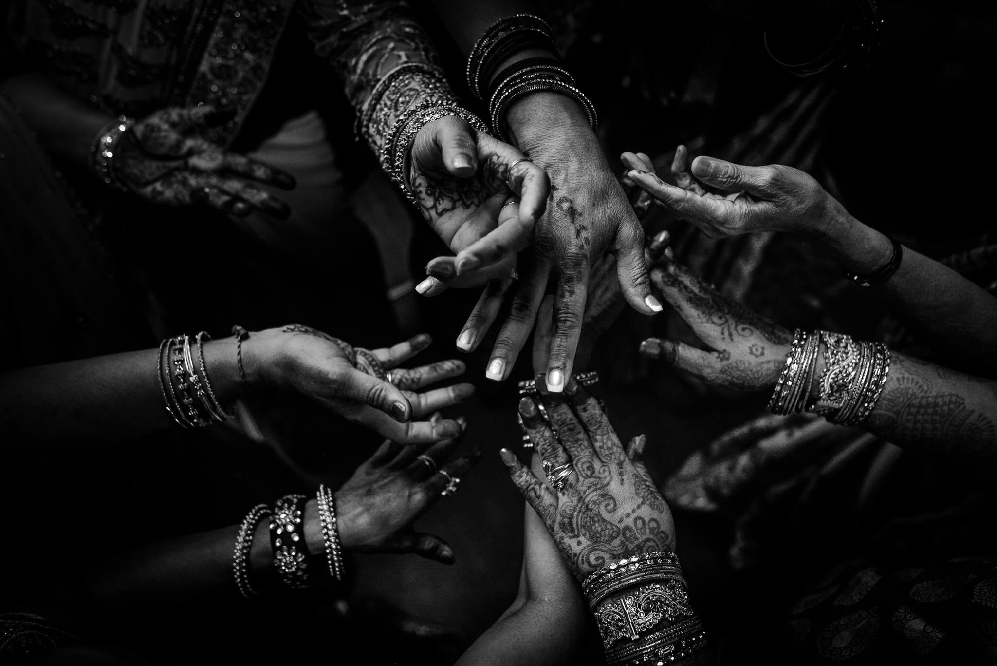 Henna detail of dancing hands at a Priceton NJ Hindu Wedding Reception