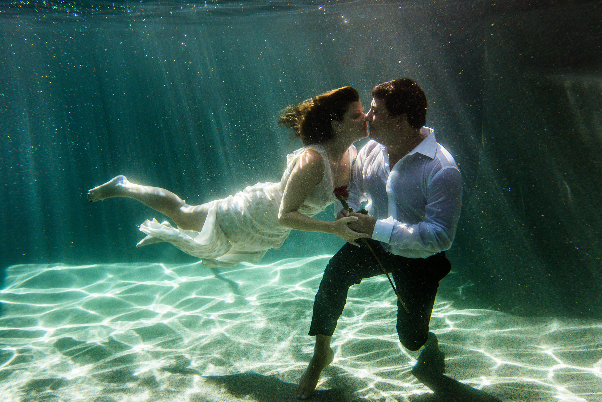 Naples Florida Underwater Photography Engagement Shoot by Zee Anna Photography