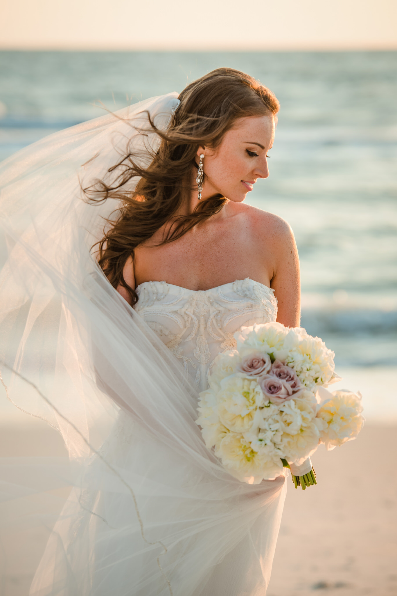 La Playa Beach Resort Bridal Portrait on the beach in Naples, Florida