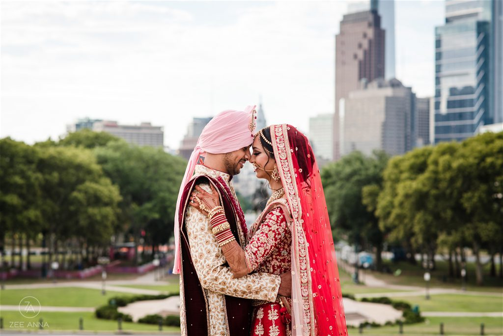 Indian Couple at the Philadelphia Museum of Art by Zee Anna